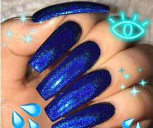 blue, nails, and nail art image