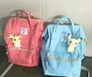 backpack, blue, and pastel image