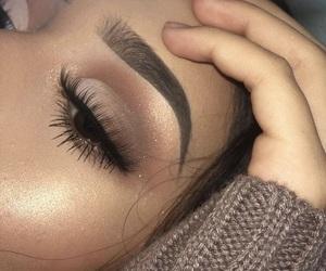 eyebrows, highlight, and eyeshadow image