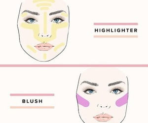 blush, highlight, and bronzer image