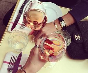 chanel, wine, and drink image