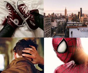 all star, converses, and spider man image