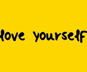 header, yellow, and love yourself image