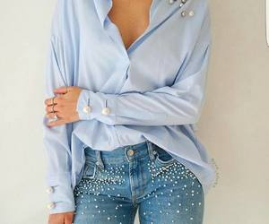 blue, classy, and fit image
