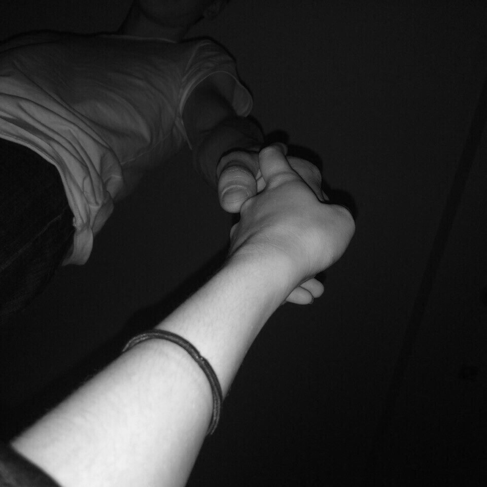 couple, hands, and night image