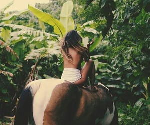 animals, girls, and tropical image