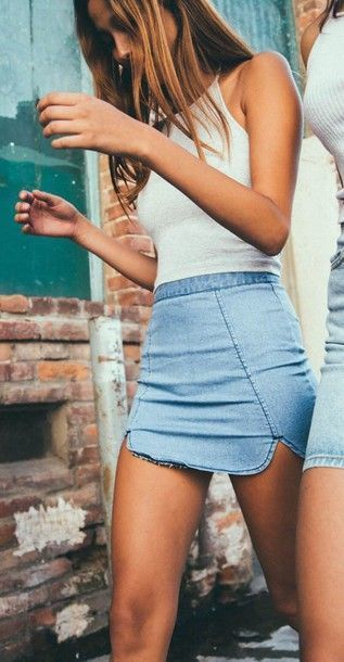 girl, skirt, and jeans image