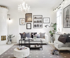 living room, interior, and Scandinavian image