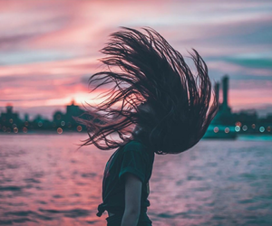 sunset, girl, and photography image