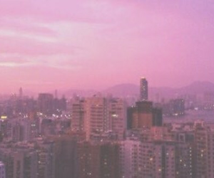 city, pink, and pale image