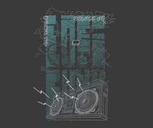 boombox, threadless, and illustration image