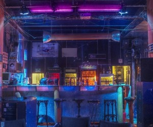aesthetic, bar, and cyber image
