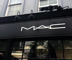 mac, black, and makeup image