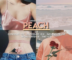 filter, peach, and tumblr image