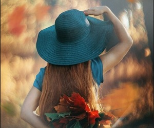 autumn, hat, and colors image