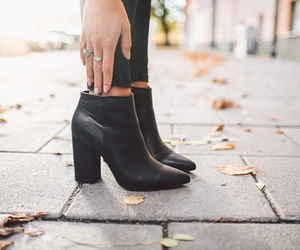 fashion, boots, and black image