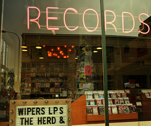 music, records, and grunge image