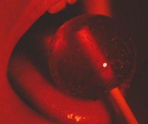 red, lollipop, and aesthetic image
