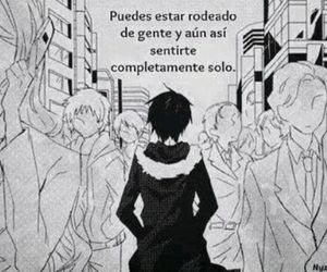 anime, alone, and frases image