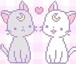 cat, kawaii, and sailor moon image