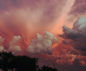 clouds, sunset, and colors image