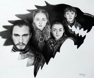 stark, arya stark, and game of thrones image