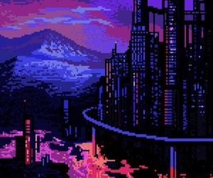 gif, pixel, and purple image