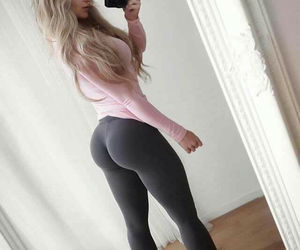 fitness, blonde, and fashion image
