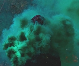 green, smoke, and aesthetic image