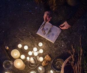 candle, magic, and witch image