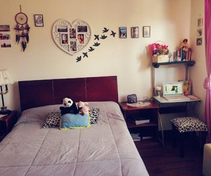 bed, flowers, and hippie image
