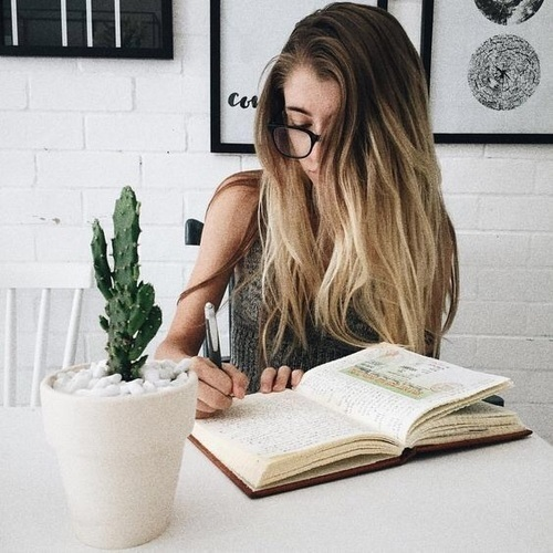 girl, study, and book image