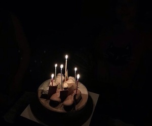 aesthetic, cake, and dark image