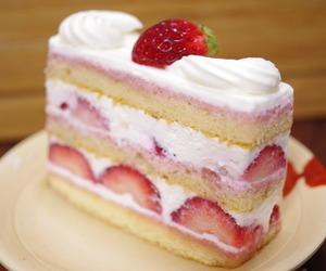 cake, strawberry shortcake, and desserts image