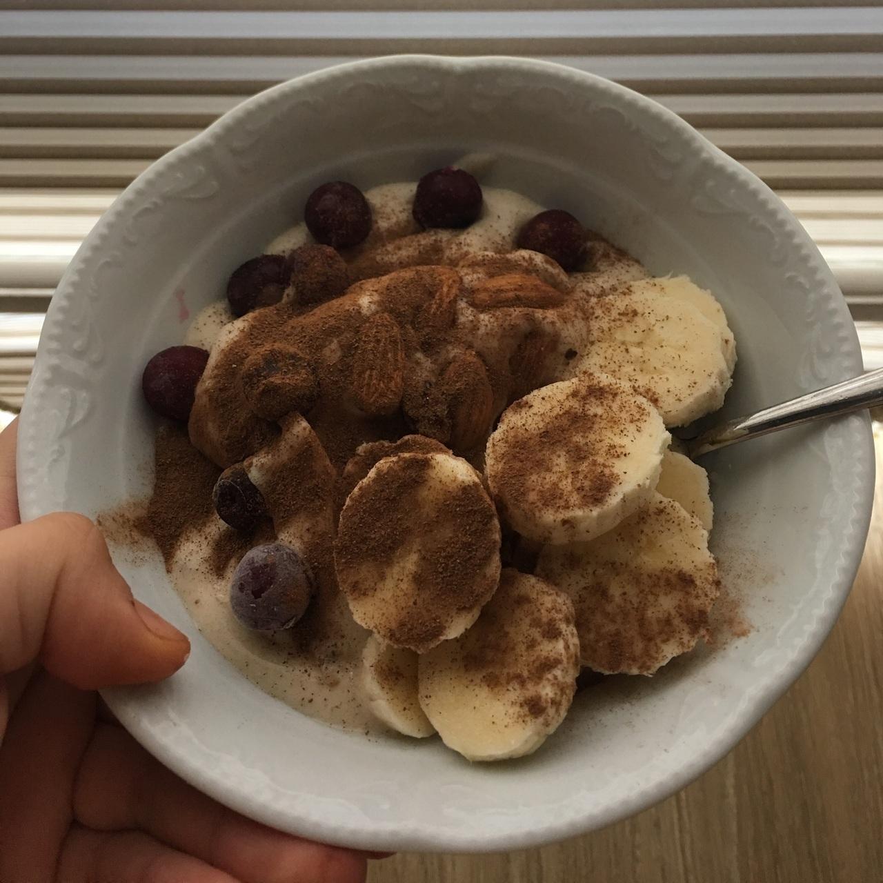 breakfast, healthy, and banana ice cream image