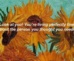 flowers, quote, and sunflowers image