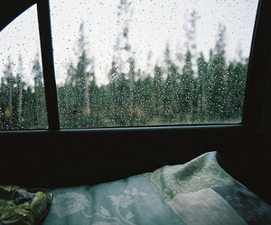 rain, car, and window image