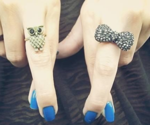 nails, rings, and owl image