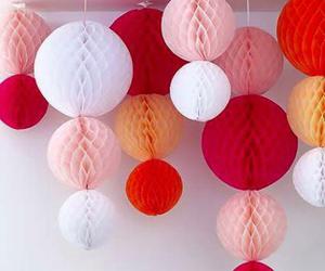 pink, decoration, and orange image