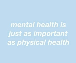 blue, mental health, and quote image
