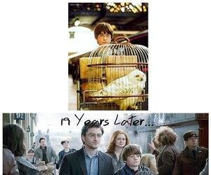 daniel radcliffe, harry potter, and 19 years later image