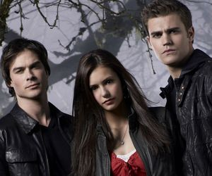 elena, Vampire Diaries, and damon image