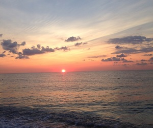 morning, sea, and sunrise image
