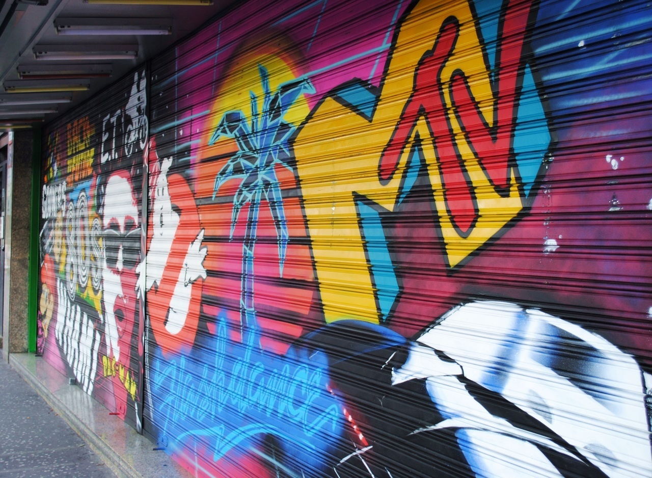 adventure, mountains, and street art image