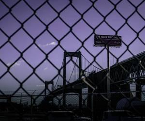 bridge, night, and purple image