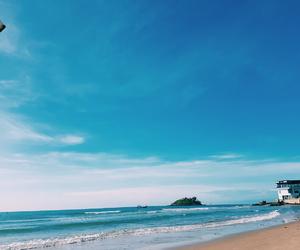 beach, blue, and fun image
