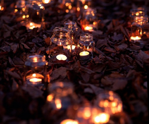 autumn, candle, and light image