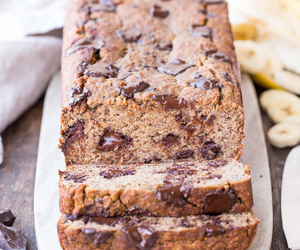 banana, bread, and chocolate image