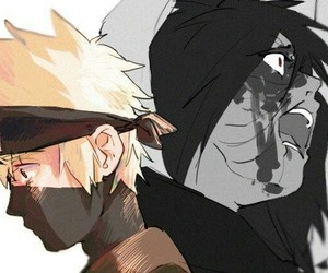kakashi, naruto, and obito image