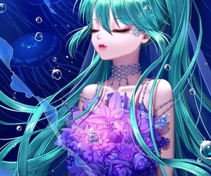 beautiful, blue, and hime image